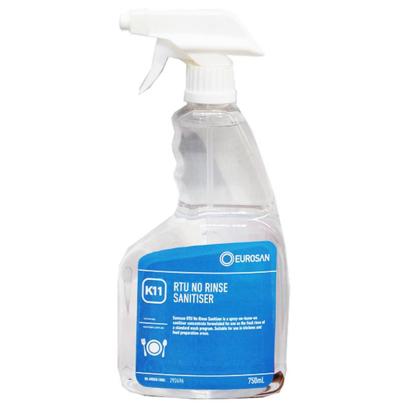 Eurosan K11 RTU No Rinse Quat Sanitizer 750ml (each)