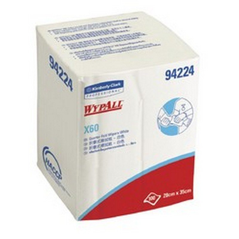 X60 White Single Sheet Wipes 35 x 28 cm 100 Sheets (8/ctn)