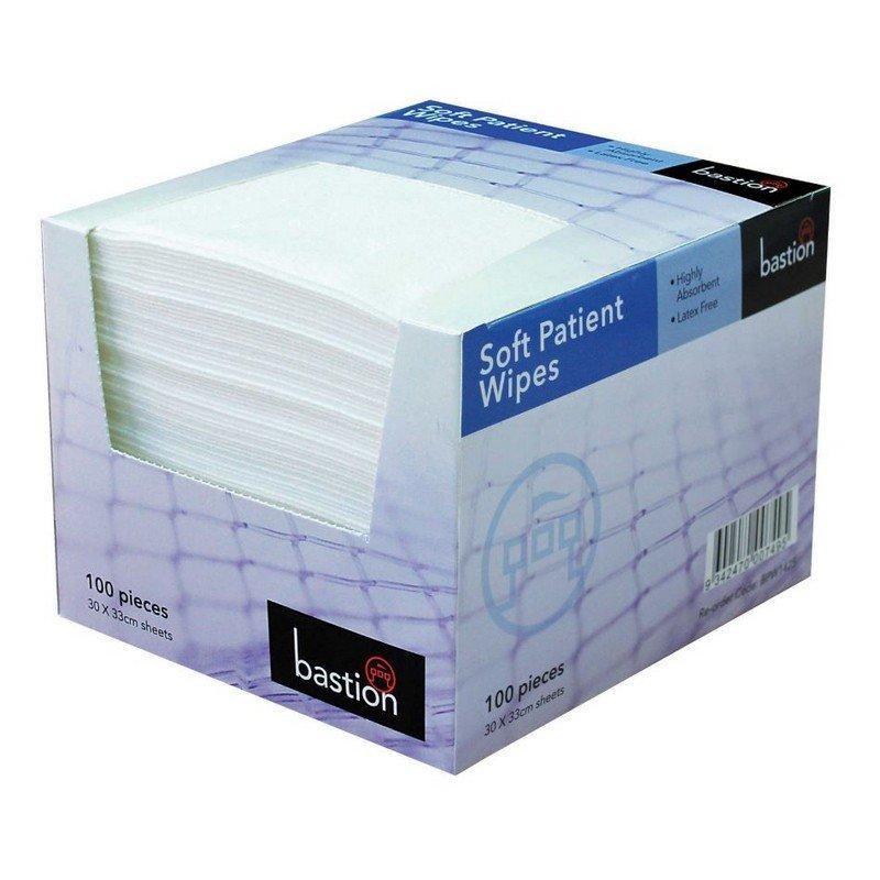 Soft Patient Wipes White 30cm x 33 cm 100sheet (8pack/ctn)