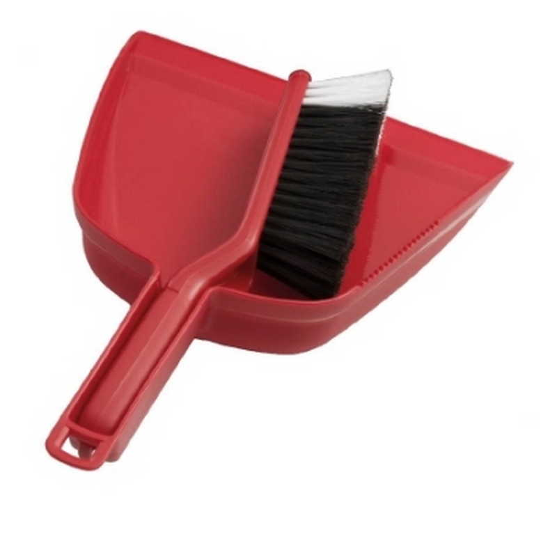 Premium Red Dustpan & Brush Set (each)