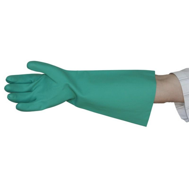 Green Nitrile Elbow Length Gloves 46cm - Size 10 XLarge (1 pair)