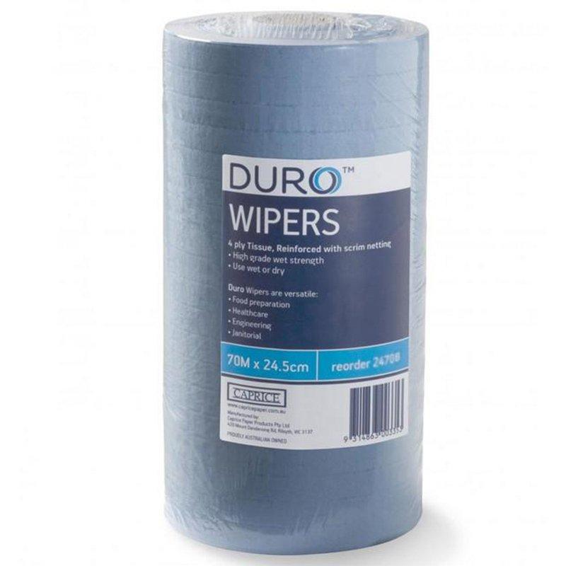 ROAR Wipes Small Blue 24.5 X 70m (4 rolls/ctn)