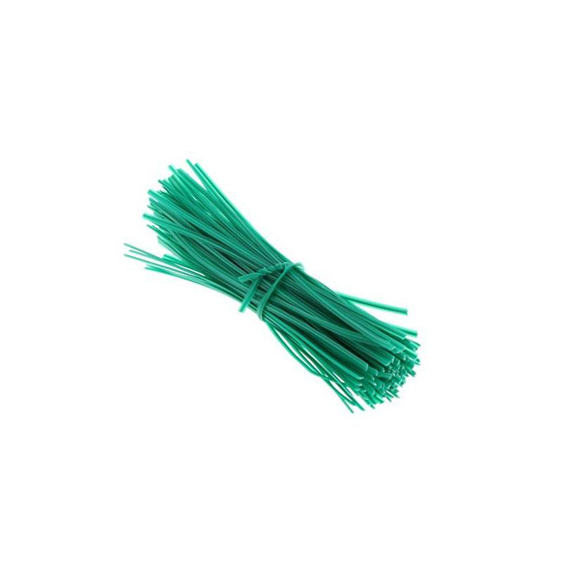 Twist Ties 200mm x 3mm Green (1000/pack)
