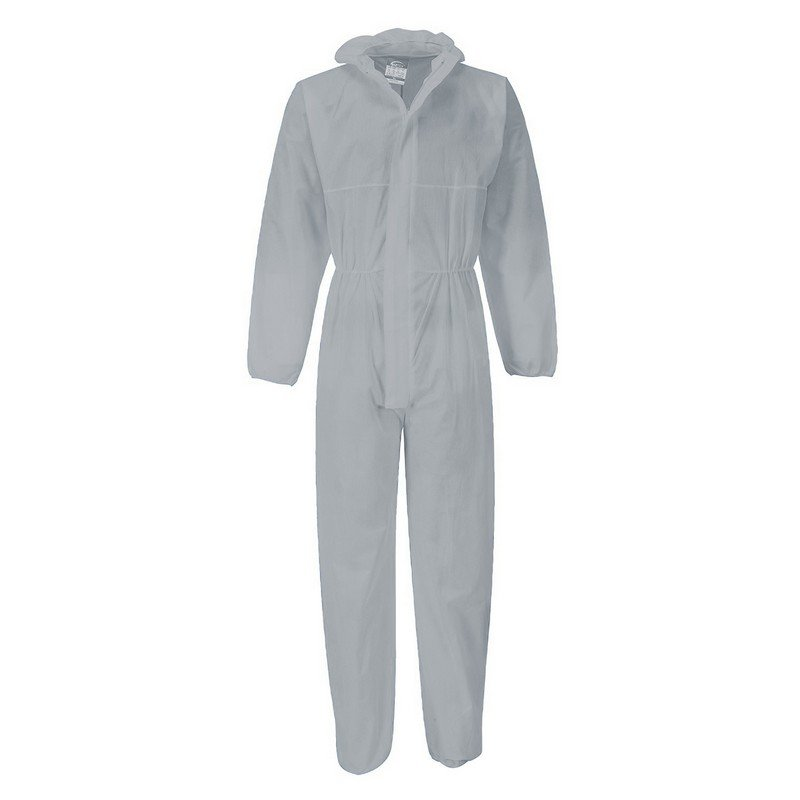Protectaware SMS Type 5 & 6 White Coverall with Hood - XXXLarge (Each)