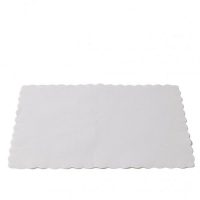 Caprice Scalloped Edge Placemat - White - 350 x 250mm (2000/ctn)