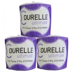 FSC Mix Durelle Ultimate Toilet Tissue 3 Ply 210 Sheet (48 rolls/ctn)