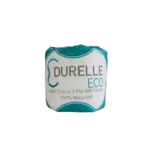 Durelle Eco Toilet Rolls 2 Ply 400 Sheet (48 rolls/ctn)