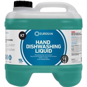 Eurosan K7 Hand Dishwashing Liquid 15L (each)