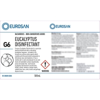 Eurosan Label G6 Eucalyptus Disinfectant  (to suit 500ml-1000ml Bottle) (each)