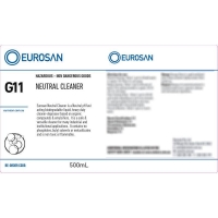 Eurosan Label G11 Neutral Cleaner  (to suit 500ml-1000ml Bottle) (each)