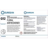 Eurosan Label G12 Floral Airfreshener (to suit 500ml-1000ml Bottle) (each)