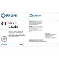 Eurosan Label G18 Glass Cleaner  (to suit 500ml-1000ml Bottle) (each)