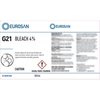 Eurosan Label G21 Bleach 4%  (to suit 500ml-1000ml Bottle) (each)