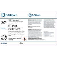 Eurosan Label G24 Enviro Cleaner Disinfectant  (to suit 500ml-1000ml Bottle) (ea