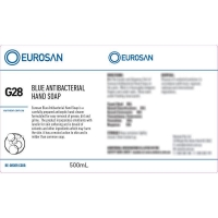 Eurosan Label G28 Blue Antibacterial Hand Soap (to suit 500ml-1000ml Bottle) (ea