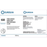 Eurosan Label G32 Food Service Hand Soap Non-Perfumed Clear  (to suit 500ml-1000