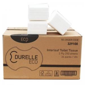FSC Mix Durelle Premium Interleaf 2 Ply Toilet Tissue (36x250 sheet)