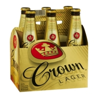 Crown Lager Beer 375ml (6/pack)