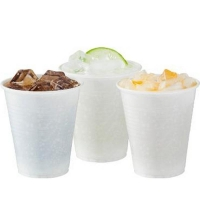 White Plastic Water Cups 180ml/6oz (1000/ctn)