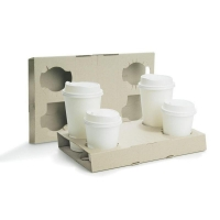 4 Cup Carry Tray (100/ctn)