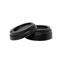 Enjoy Your Coffee Black Sipper Lids to Suit 225ml/8oz Cup (100/sleeve)