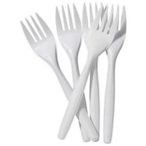 White Plastic Forks (100/pack)