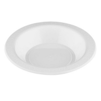 White Plastic Bowl 180mm (50/pack)