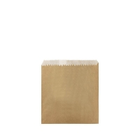 1/2 Square Greaseproof Brown Paper Bags 160x140mm (500/ctn)
