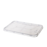 Genfac Rectangular Lids to suit Ribbed Containers (500/ctn)
