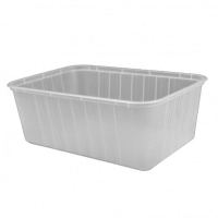 Genfac Ribbed Rectangle Containers 1000ml (500/ctn)