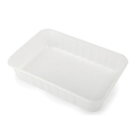 Genfac Ribbed Rectangle Containers 500ml (500/ctn)
