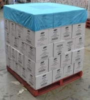 Breathable Polypropylene (PP) Elastic Pallet Top Cover Blue 1400mm x 1400mm (50/