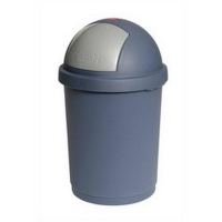 Charcoal Domed Bin Grey 28L (each)
