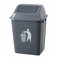 Charcoal Flip Top Bin 60L (each)