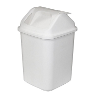 White Swing Top Tidy Bin 18L (each)