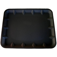 "Black Foam Tray 9x11"" (500/ctn)"