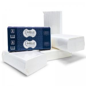 Durelle Premium White Ultraslim Hand Towel 23 x 24cm (16 x150sheet)