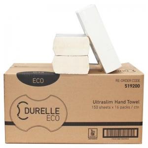 Durelle Eco Ultraslim Hand Towel 23 x 24cm (16 x150sheet)