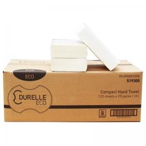Durelle Eco Compact Hand Towel 19 x 29.5cm (20 x 120sheet)