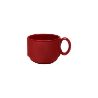 AFC Red Stackable Teacup - 240ml (24/ctn)