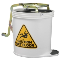 Contractor Plastic Mop Bucket White 15ltr
