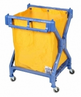 Delux Plastic Scissor Trolley with Bag (each)