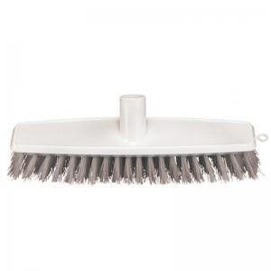 Oates 300mm PVC Backed Broom Stiff Poly Floor Scrub Blue (each)