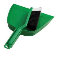 Premium Green Dustpan & Brush Set (each)