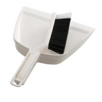 Premium White Dustpan & Brush Set (each)