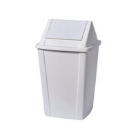White Flip Top Tidy Bin 30L (each)