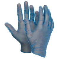 Protectaware Premium Blue Vinyl Powder Free Gloves - Large (100/pack)