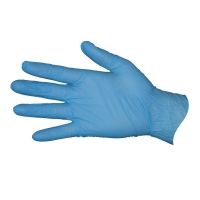 Durelle Premium Blue Nitrile Powder Free Gloves - Large (100/pack)