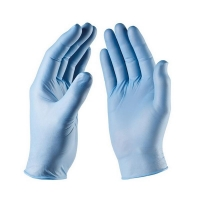 Durelle Eco Blue Nitrile Powder Free Gloves - Small (200/pack)