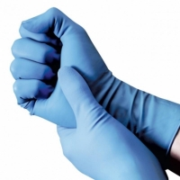 Durelle Premium Blue Nitrile Long Cuff Powder Free Gloves - Medium (100/pack)